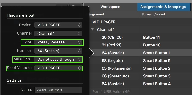 MainStage Setup and Troubleshooting: Pacer